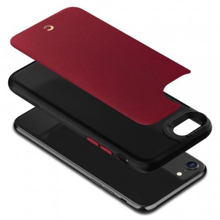 Carcasa Spigen Ciel Leather Brick iPhone 7/8/SE 2020 Red5