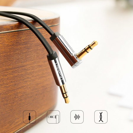 Cablu Ugreen auxiliar audio jack - jack 3.5mm 1m [1]
