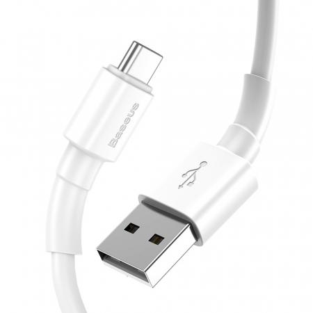 Cablu incarcare/date Baseus mini USB - type C 1M 3A CATSW-02 alb [2]