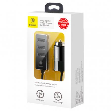 Incarcator auto Baseus Enjoy Together +4 X USB 5.5A  CCTON-01 [8]