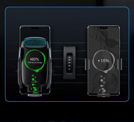 Incarcator/suport auto universal Baseus Milky Way QI wireless [8]
