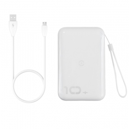 Baterie Externa Power Bank Baseus Mini S Bracket Wireless Charger Qi, 10000mAh, Alb1