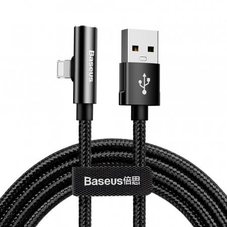 Cablu date/incarcare Baseus Rhythm bent USB/lightning cu adaptor lightning 1.2m 2.4 A CALLD-B01 [0]