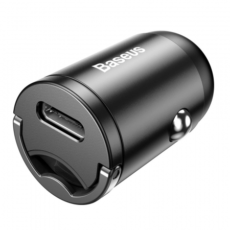 Incarcator auto Baseus Tiny Star PPS mini tuype C + cablu lightning 18W TZVCHX-OG gri [6]