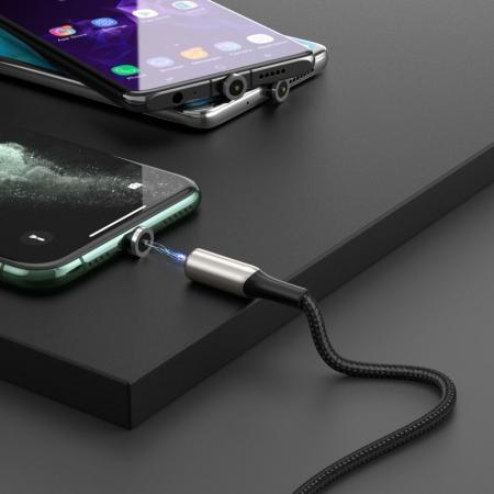 Cablu Baseus Zinc Magnetic USB - type C 2A 1m CATXC-H015
