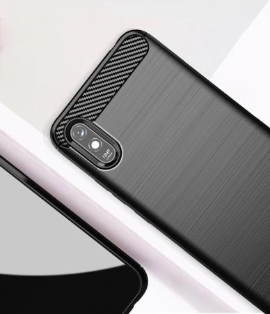 HUSA Carbon Case Flexible Cover TPU  Xiaomi Redmi 9A3