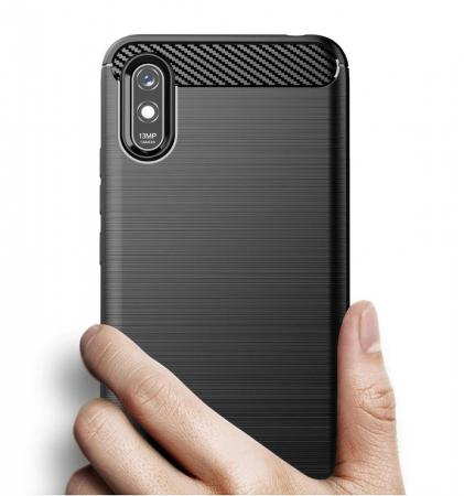 HUSA Carbon Case Flexible Cover TPU  Xiaomi Redmi 9A4