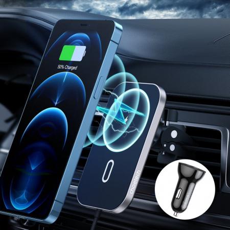 Incarcator auto Choetech Magnetic 15W MagSafe T200-F+ priza USB - USB Type C [2]