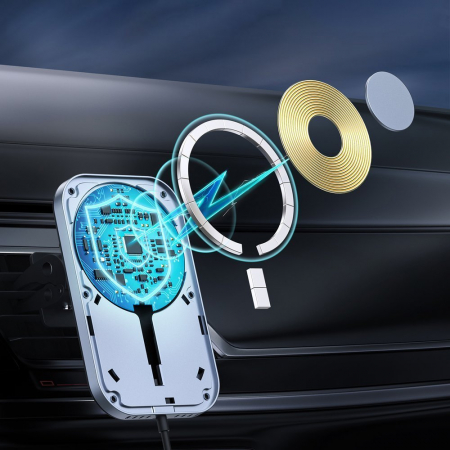 Incarcator auto Choetech Magnetic 15W MagSafe T200-F+ priza USB - USB Type C [4]