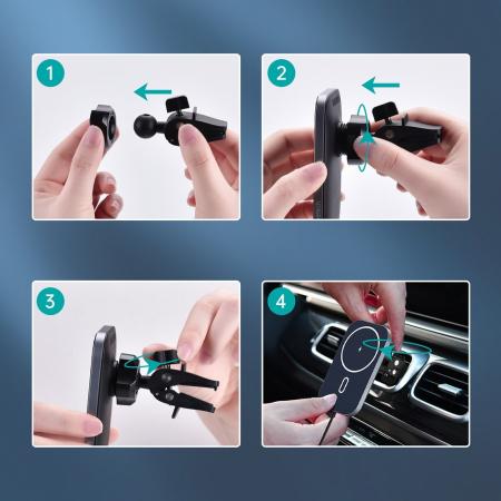 Incarcator auto Choetech Magnetic 15W MagSafe T200-F+ priza USB - USB Type C [7]