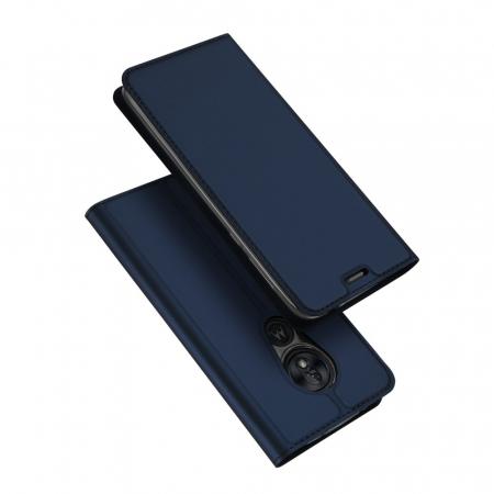 Husa Carte Dux Ducis Anti Amprenta pentru Motorola Moto G7 Play, Albastru0