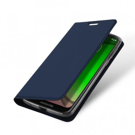 Husa Carte Dux Ducis Anti Amprenta pentru Motorola Moto G7 Play, Albastru3
