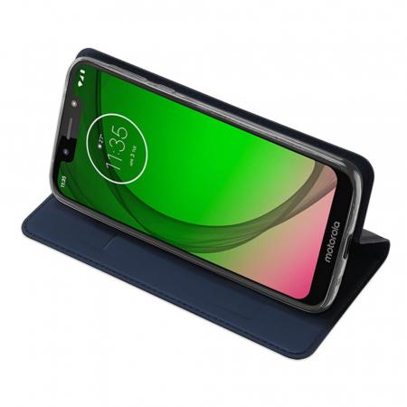 Husa Carte Dux Ducis Anti Amprenta pentru Motorola Moto G7 Play, Albastru4