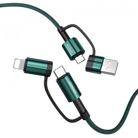 Cablu Joyroom 4 in1 - USB Type C / USB - USB Type C / Lithtning  3 A 1,8 m [0]