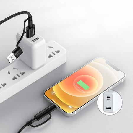 Cablu Joyroom 4 in1 - USB Type C / USB - USB Type C / Lithtning  3 A 1,8 m [1]