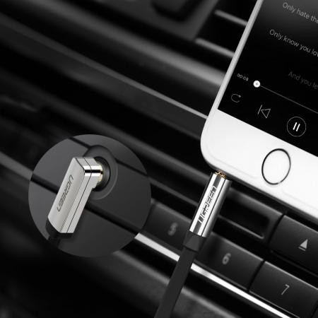 Cablu auxiliat audio Ugreen jack 3.5mm plat 2m [2]