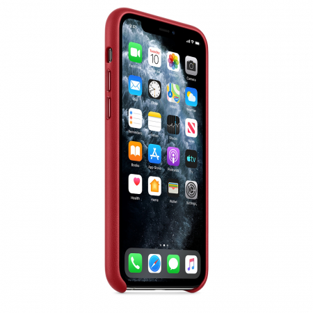 HUSA APPLE IPHONE 11 PRO LEATHER CASE RED1
