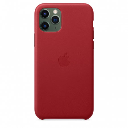 HUSA APPLE IPHONE 11 PRO LEATHER CASE RED0