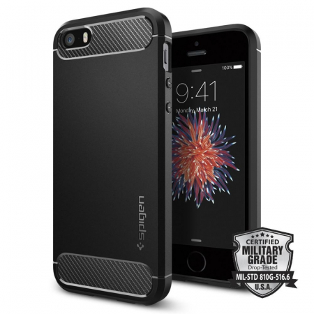 Husa Spigen Rugged Armor Iphone 5/5s/SE0