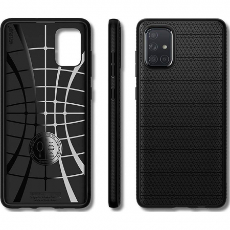 HUSA SPIGEN LIQUID AIR SAMSUNG GALAXY A71 MATTE BLACK1