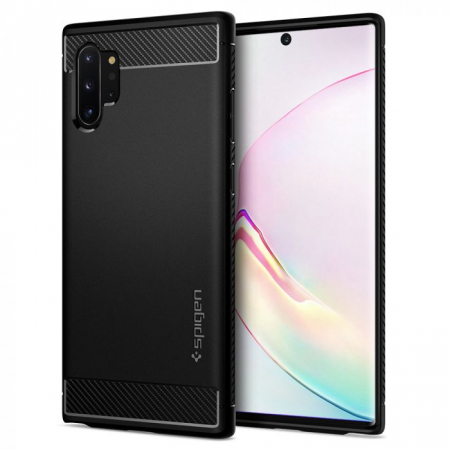 HUSA SPIGEN RUGGED ARMOR SAMSUNG GALAXY NOTE 10 PLUS BLACK0