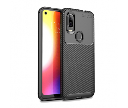 Husa TPU OEM Carbon Fiber Pentru Motorola P40, Neagra0
