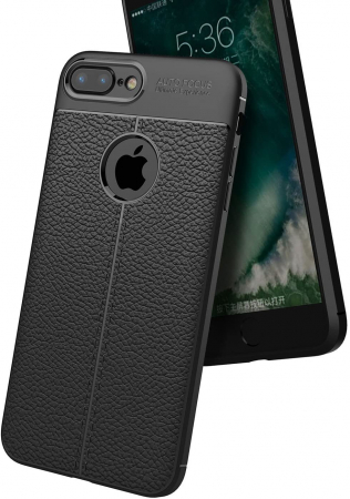 HUSA TPU SILICON APPLE IPHONE 8 PLUS BLACK LITCHI5
