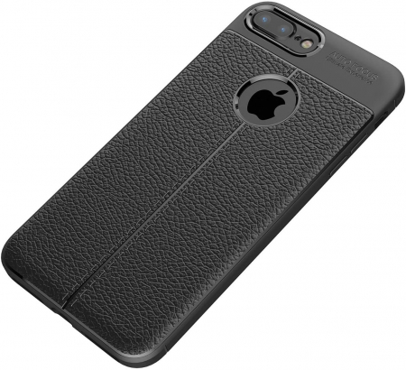 HUSA TPU SILICON APPLE IPHONE 8 PLUS BLACK LITCHI4