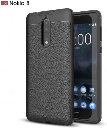 Husa Litchi TPU silicon Nokia 8 [3]