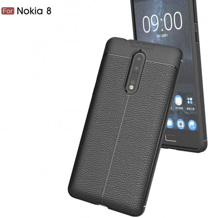 Husa Litchi TPU silicon Nokia 8 [0]