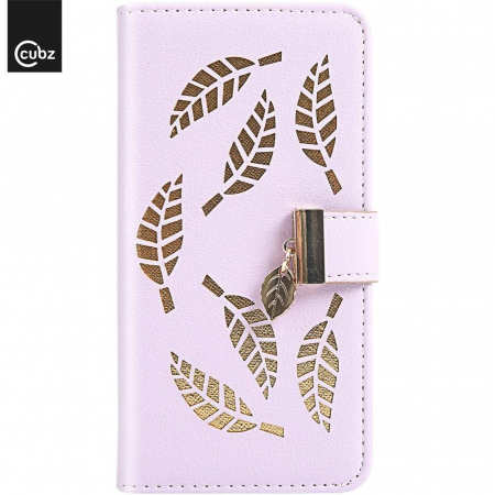 Husa Xiaomi Redmi 7A - Book Type Magnetic Leaves Pattern Pink CUBZ2