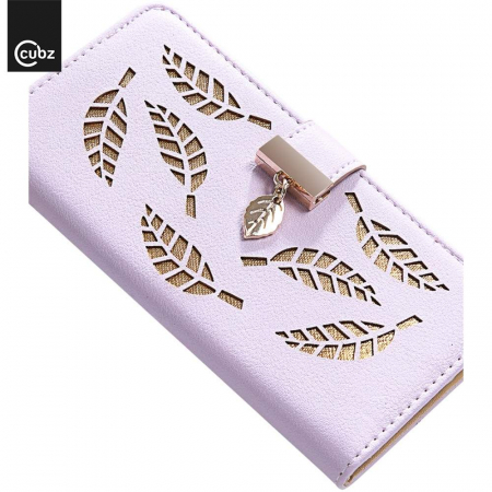 Husa Xiaomi Redmi 7A - Book Type Magnetic Leaves Pattern Pink CUBZ4