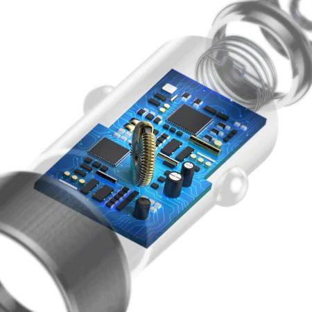 Incarcator auto Baseus Mini 2X USB + cablu lightning 1M [3]