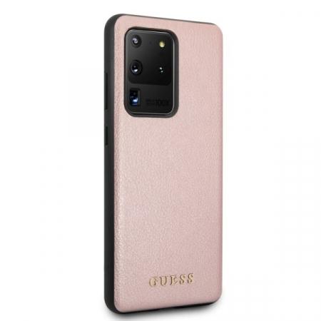 Husa Guess Iridescent Samsung Galaxy S20 Ultra Rose Gold2