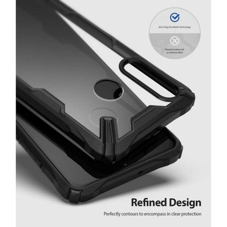 Ringke Fusion X durable PC Case with TPU Bumper for Huawei P30 Lite black3