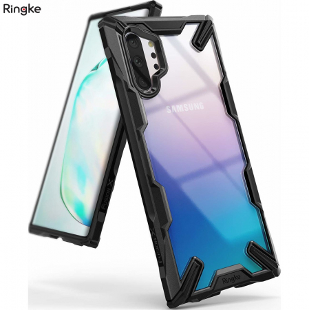 Ringke Fusion X durable PC Case with TPU Bumper for Samsung Galaxy Note 10 Plus black0