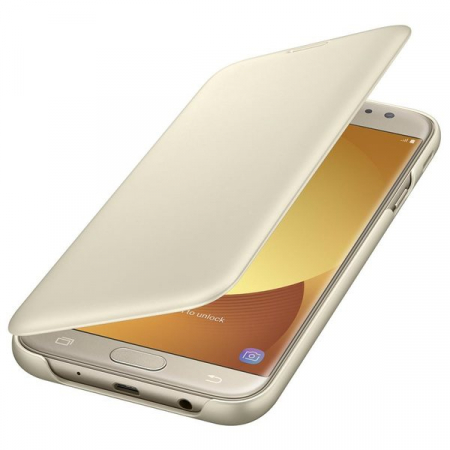 SAMSUNG GALAXY J7 (2017) WALLET COVER GOLD1
