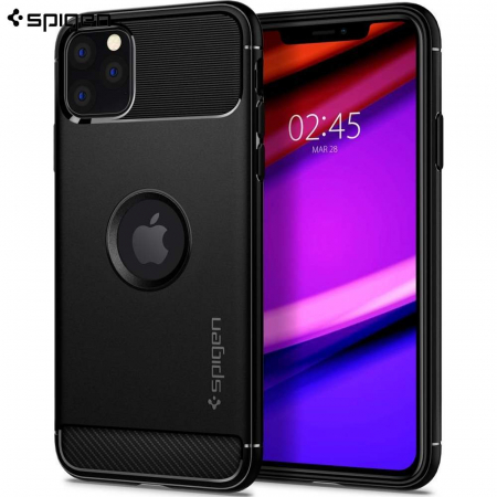SPIGEN RUGGED ARMOR IPHONE 11 PRO MAX BLACK0