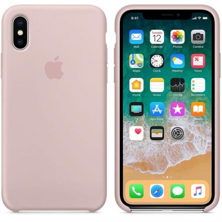 Husa de protectie Apple pentru iPhone X, Silicon, Pink Sand1