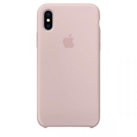 Husa de protectie Apple pentru iPhone X, Silicon, Pink Sand0