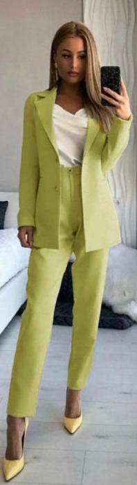 Compleu Pantaloni + Sacou Verde Noella [1]