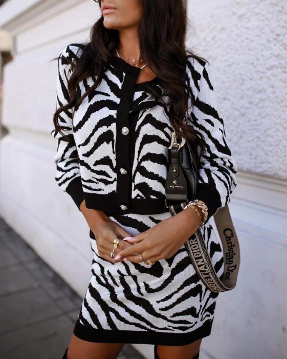 Compleu tricotat zebra 2