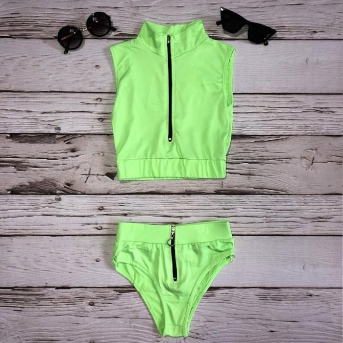 Costum de baie Inna Verde Neon 0