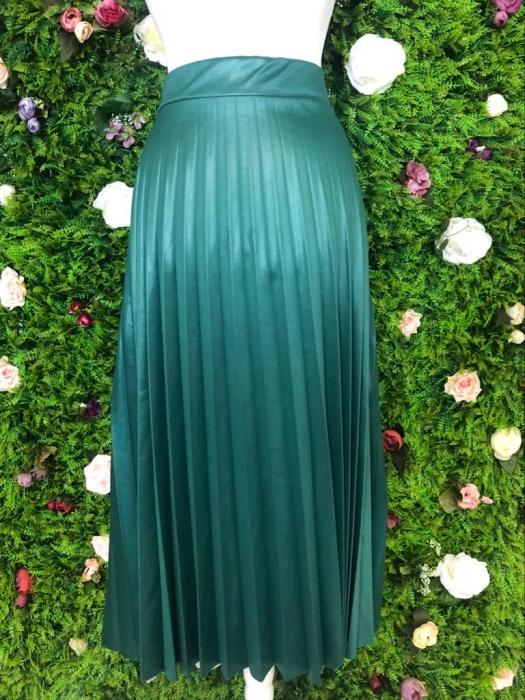 Fusta verde plisata 1