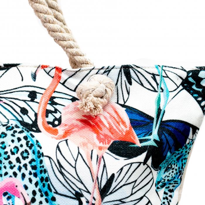 Geanta de Plaja Blue Flamingo [2]