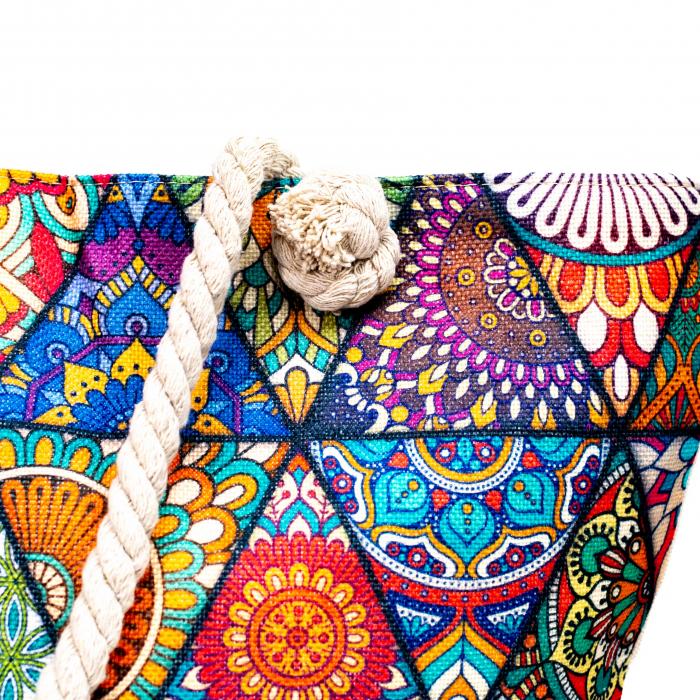 Geanta de Plaja Multicolora Mandala1 [2]