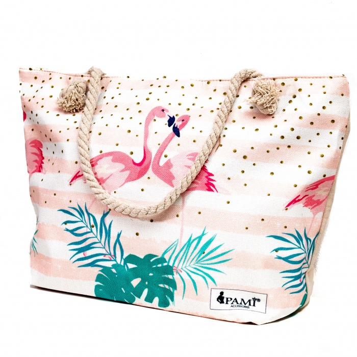 Geanta de Plaja Pink Flamingo [0]