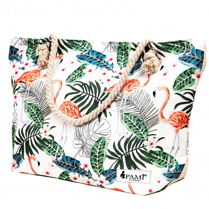 Geanta de Plaja Tropical Flamingo [0]