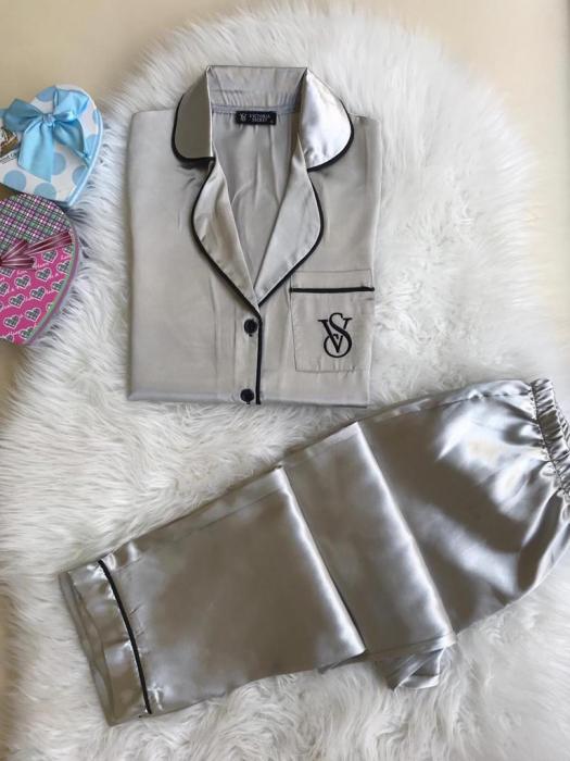 Pijama de Satin gri [0]