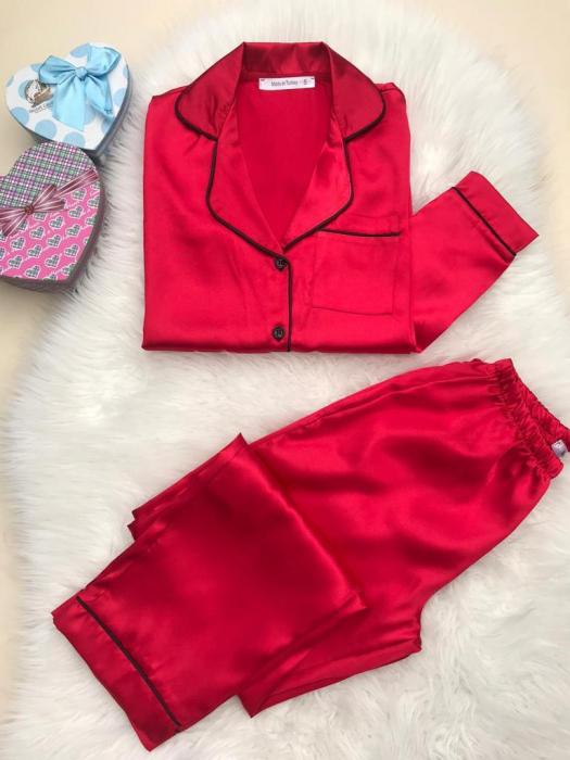 Pijama de Satin Red 0